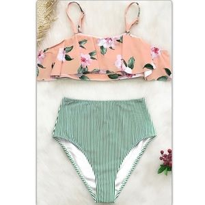 Cute 2 piece high waist bikini